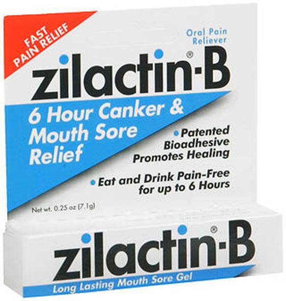 Zilactin-B Canker & Mouth Sore Gel - 0.25 oz