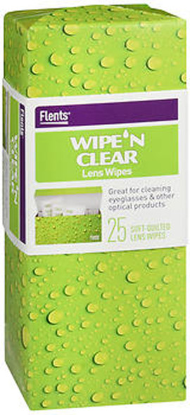 Flents Wipe 'N Clear Lens Wipes - 25 ct