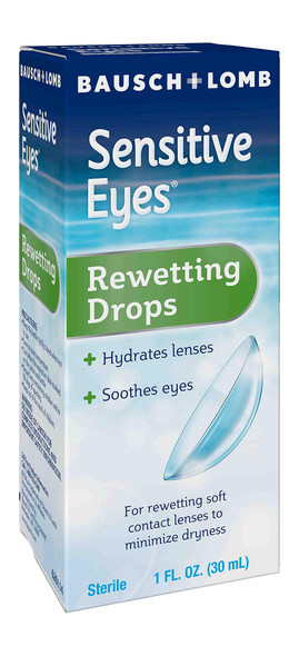 Bausch + Lomb Sensitive Eyes Rewetting Drops - 1 oz