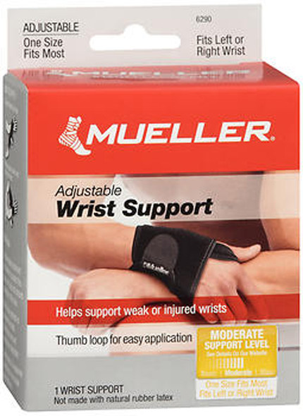 Mueller Adjustable Wrist Support - One Size Fits All - 1 Each