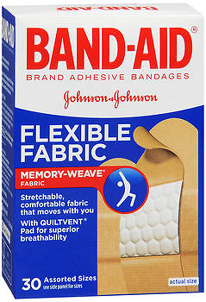 Band-Aid Flexible Fabric Bandages Assorted - 30 ct