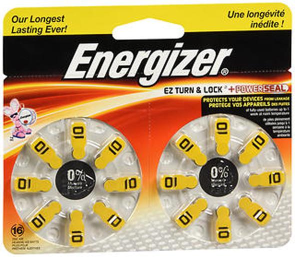 Energizer Zero Mercury Hear Aid Batteries AZ10DP - 16 ct