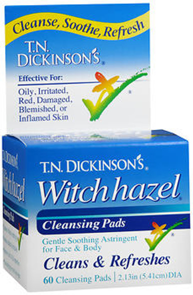 T.N. Dickinson's Witch Hazel Cleansing Pads - 60 ct