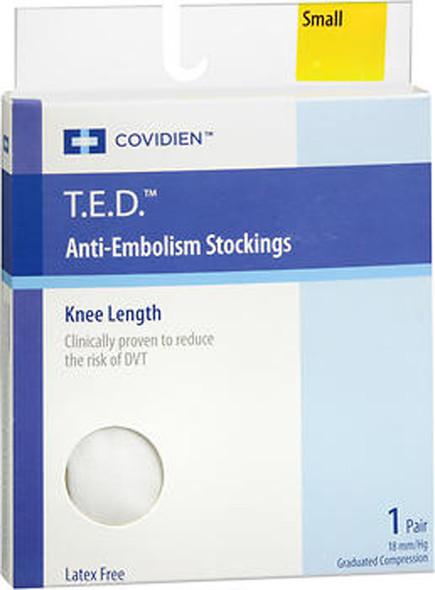 T.E.D. Anti-Embolism Stockings Knee Length 18 mm/Hg, White, Small