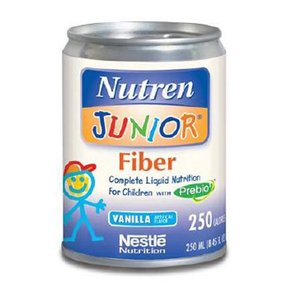 Nutren Junior Fiver Supplement with Prebio Vanilla - 24 Cans of 8.45 oz