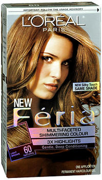 L'Oreal Feria Permanent Haircolour Gel 60 Crystal Brown Light Natural