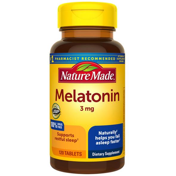 Nature Made Melatonin Tablets - 3mg - 120 ct