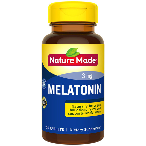Nature Made Melatonin Tablets - 3mg - 120 ct