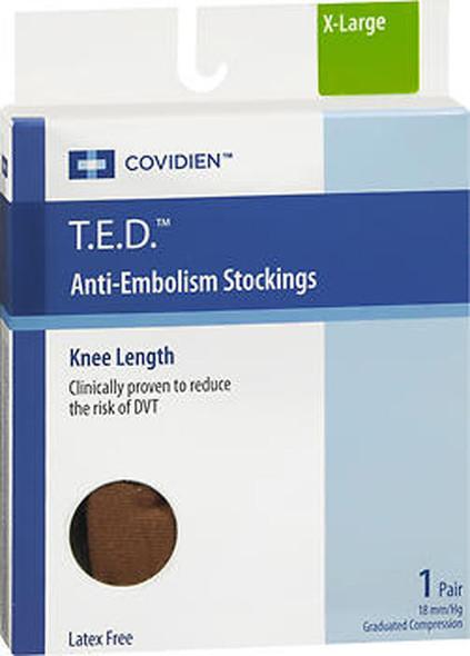 T.E.D. Anti-Embolism Stockings Knee Length Closed Toe Beige Extra Large Regular- 1 pair