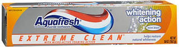 Aquafresh Extreme Clean Whitening Action Toothpaste Mint Blast - 5.6 oz