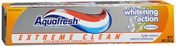 Aquafresh Extreme Clean Whitening Action Toothpaste Mint Blast - 5.6 oz