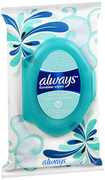 Always Fresh & Clean Feminine Wipes - 32 Count