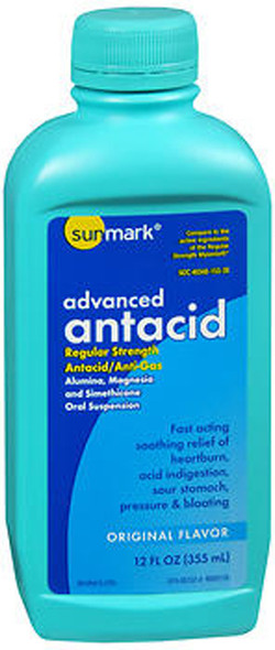 Sunmark Advanced Antacid Liquid Regular Strength Original Flavor  - 12 oz