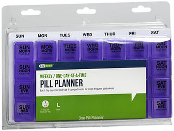 Ezy-Dose One-Day-At-A-Time Medication Organizer Four-A-Day Weekly Large #67165 - 1 ea