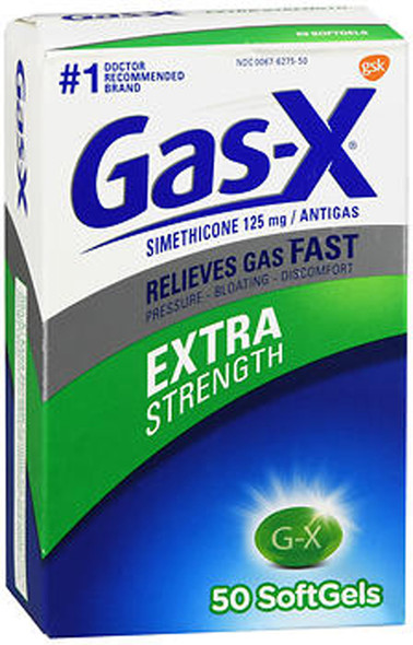Gas-X Softgels Extra Strength - 50 Capsules
