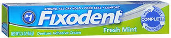 Fixodent Denture Adhesive Cream Fresh Mint - 2.4 oz