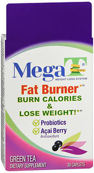 MEGA-T Green Tea Caplets with Probiotics and Acai Berry - 30 ct