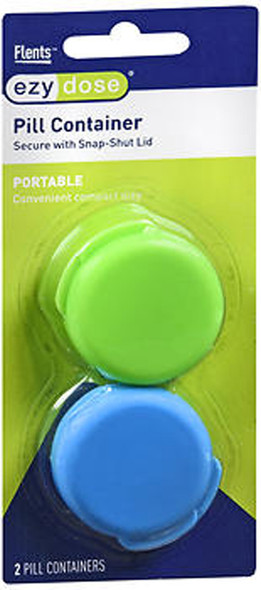 Ezy Dose Portable Pill Containers - 2 ea  #67700