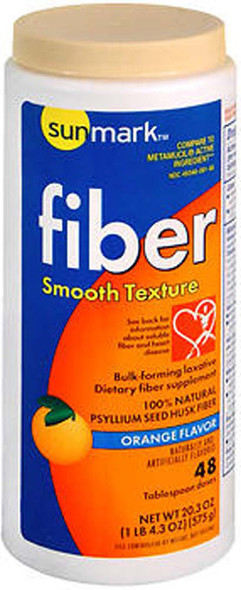 Sunmark Fiber Laxative Smooth Texture Orange Flavor - 20.3 oz