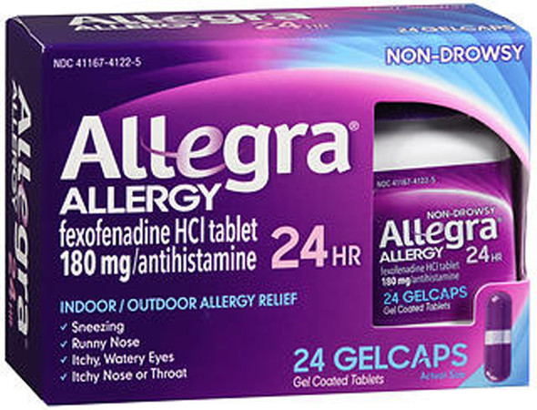 Allegra 24 Hour Allergy Gelcaps - 24 Ct.