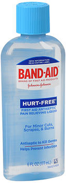 Band-Aid Hurt-Free Antiseptic Pain Relieving Wash - 6 oz