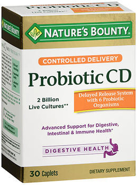 Nature's Bounty Controlled Delivery Probiotic CD Caplets - 30 ct