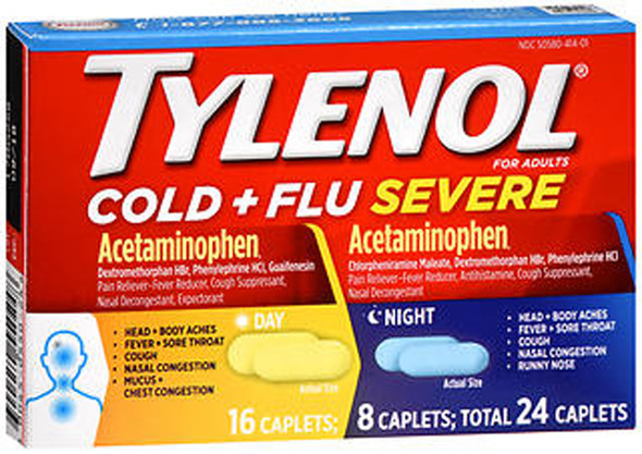 Tylenol Cold + Flu Severe Day & Night Caplets - 24 ct