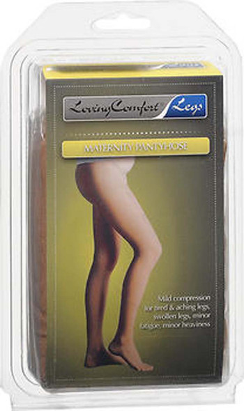 Loving Comfort Maternity Pantyhose Firm Compression 20-30 MMHG Beige Large, 1661BEI-LG