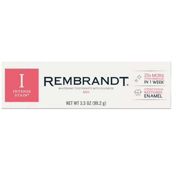 Rembrandt Intense Stain Whitening Toothpaste with Fluoride Mint - 3.5 oz