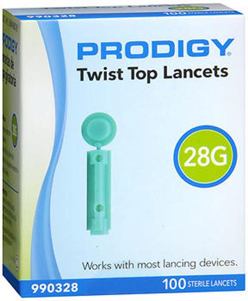 Prodigy Twist Top Lancets, 28G - 100 ct