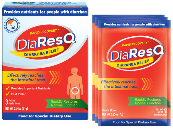 DiaResQ Rapid Recovery Diarrhea Relief - 3 Packets