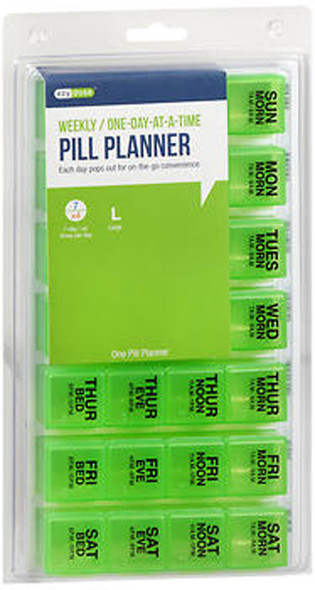 Ezy Dose Four-A-Day Weekly One-Day At-A-Time Medication Organizer Large # 67388 - 1 Each