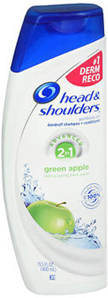 Head & Shoulders Green Apple 2 in 1 Dandruff Shampoo + Conditioner - 13.5 oz