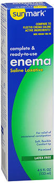 Sunmark Complete & Ready-to-Use Enema Saline Laxative - 4.5 oz