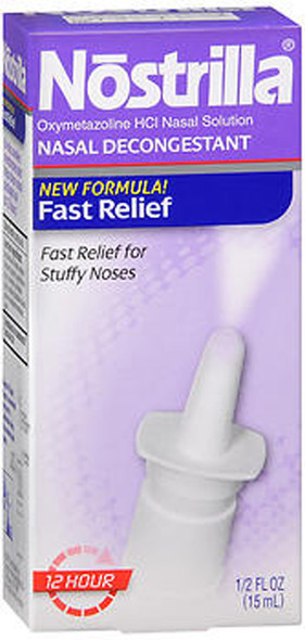 Nostrilla Nasal Decongestant Spray Fast Relief - .5 oz