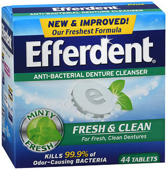 Efferdent Fresh & Clean Anti-Bacterial Denture Cleanser Tablets - 44 ct