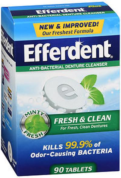 Efferdent Fresh & Clean Anti-Bacterial Denture Cleanser Tablets - 90 ct