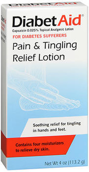 DiabetAid Pain & Tingling Relief Lotion - 4 oz