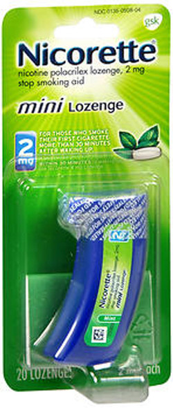 Nicorette Nicotine Polacrilex Mini Lozenges 2 mg Mint - 20 ct