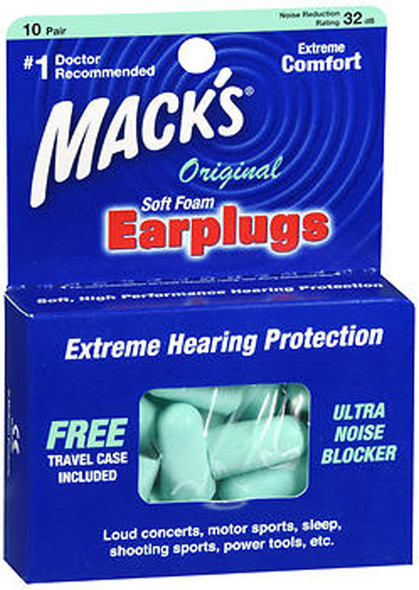 Mack's Soft Foam Earplugs Original - 10 Pair