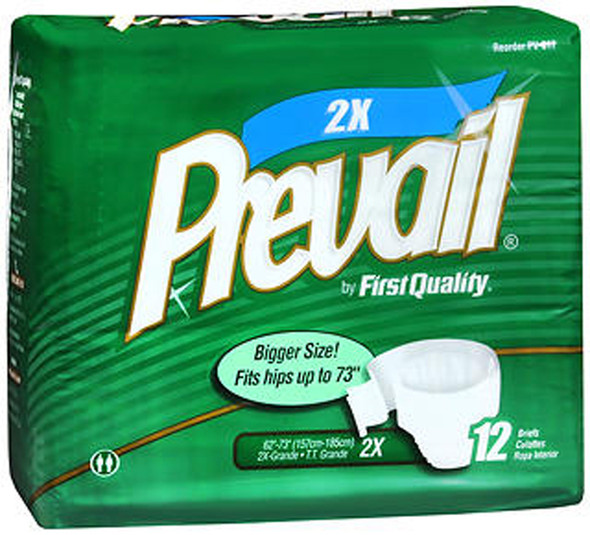 Prevail Briefs, 2XL - 4 Packs of 12