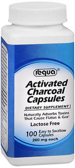 Requa Activated Charcoal Capsules - 100 ct