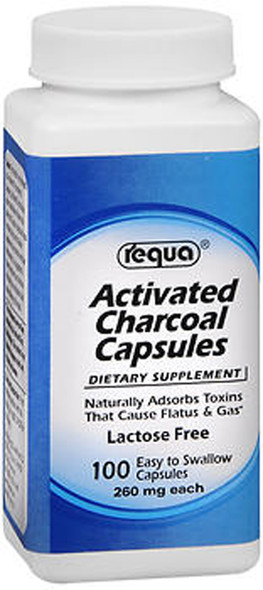 Requa Activated Charcoal Capsules - 100 ct
