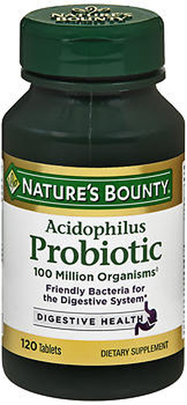 Nature's Bounty Acidophilus Probiotic Tablets - 120 Ea.