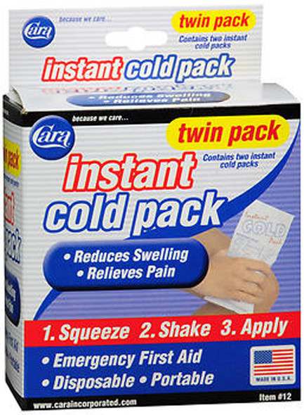 Cara Instant Cold Packs, #12 - 2 ct