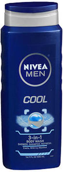 Nivea Men Cool 3-in-1 Body Wash - 16.9 oz