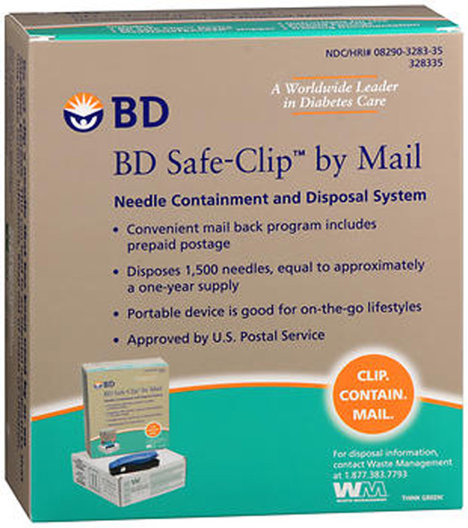 BD Safe-Clip by Mail Needle Containment and Disposal System