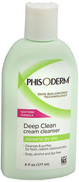 pHisoderm Deep Cleaning Cream Cleanser For Normal To Dry Skin - 6 oz
