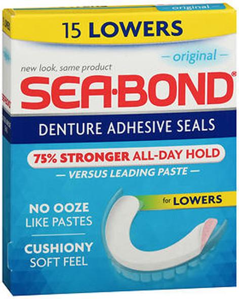 Sea-Bond Denture Adhesive Wafers Original, Lowers - 15 ea.