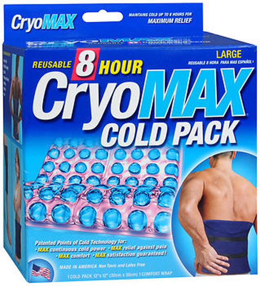 Cryo-MAX Reusable Cold Pack 8 Hour Large, 12 X 12 - Each